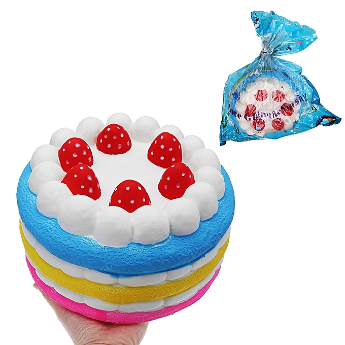 UNIVERSAL Giant Strawberry Cake Squishy 2515CM Huge Slow Rising Soft Toy Gift Collection With Packaging- à prix pas cher
