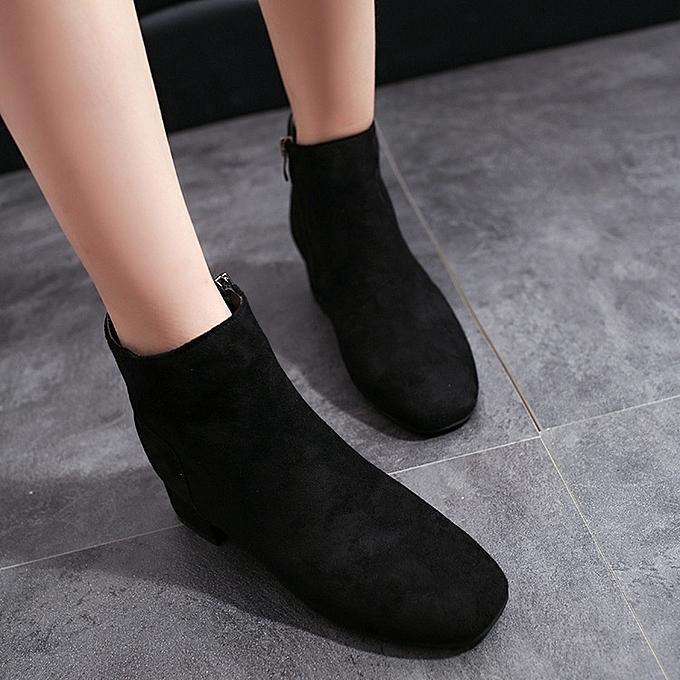 Autre Stylish Autumn and Winter Low Heel Zipper Ankle Ankle Ankle Boots à prix pas cher  | Jumia Maroc 0eb0ba
