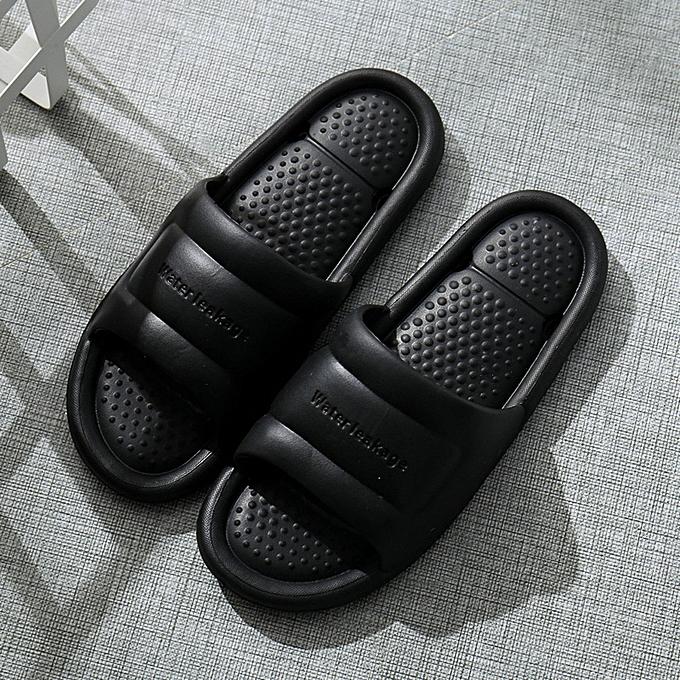 Fashion jiuhap store Men&femmes Home Indoors Floor Family chaussures Shower Sandals Skidproof Slippers à prix pas cher