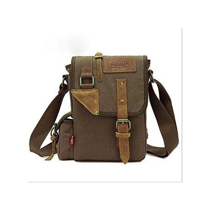 Augur AUGUR Men's Canvas Casual Bag Single Shoulder Messenger Bags Korean Style Business Pouch Bags(Army vert) à prix pas cher