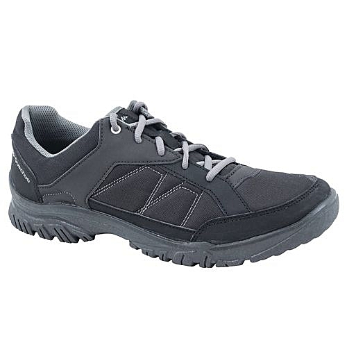 15a4bb1a4 Quechua أحذية المشي لمسافات طويلة الطبيعة NH100 الرجال السود   جوميا المغرب