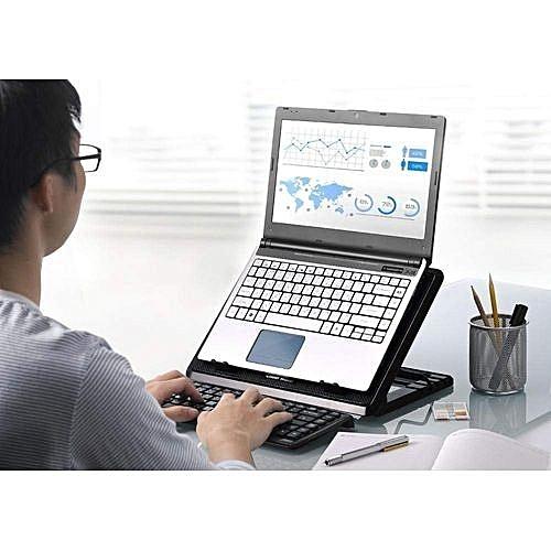 Support Table PC Portable, Réglable avec ventilateur de Refroidissement  Silencieux, 2 ports USB, 675afb5bb307