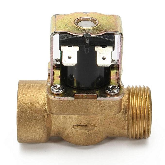 UNIVERSAL 3 4 Inch N C 12V DC VDC Slim Brass Electric Solenoid Valve NPSM Gas Water Air or à prix pas cher