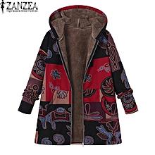 d1de3fc9074cf ZANZEA Women Plus Size Jacket Outerwear Top Zips Parka Loose Cotton Fleece  Coat
