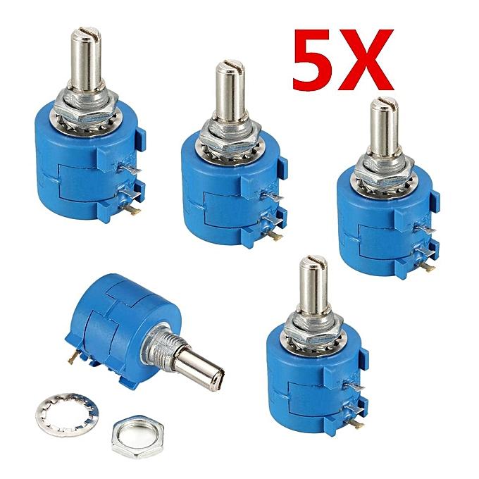 UNIVERSAL 5SETS 3590S-2-103L 10K Ohm BOURNS rougeary Wirewound Precision Potentiometer Pot 10 Turn à prix pas cher