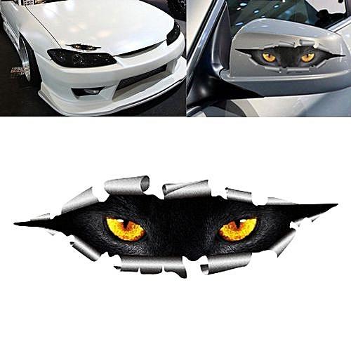 Funny 3d eyes car sticker waterproof peeking monster for Housse retroviseur