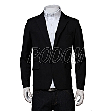 Light Blue Mens Blazer Suit Slim Fit Tuxedo Coat Formal Wedding Meeting  Jacket a590278d07c