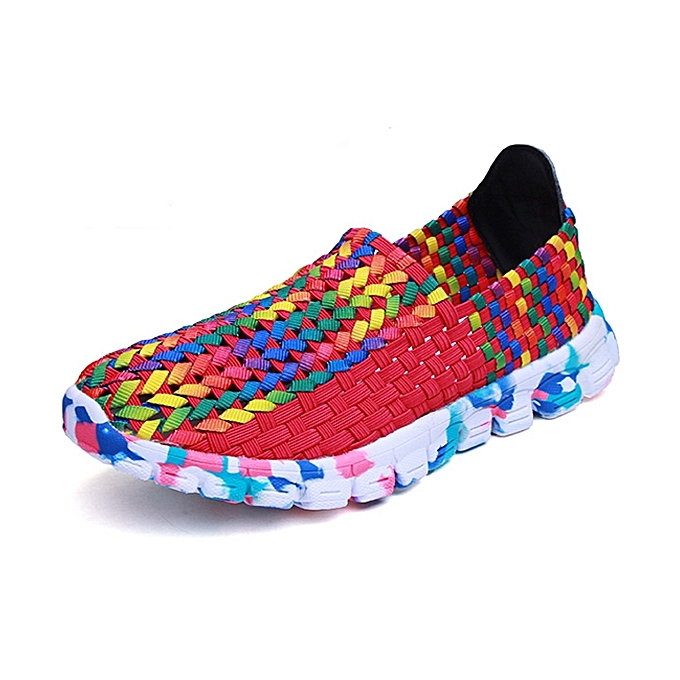 Fashion US Taille 5-10 femmes Casual Hand-made Knitting chaussures Outdoor Breathable Comfortable Flats chaussures à prix pas cher    Jumia Maroc