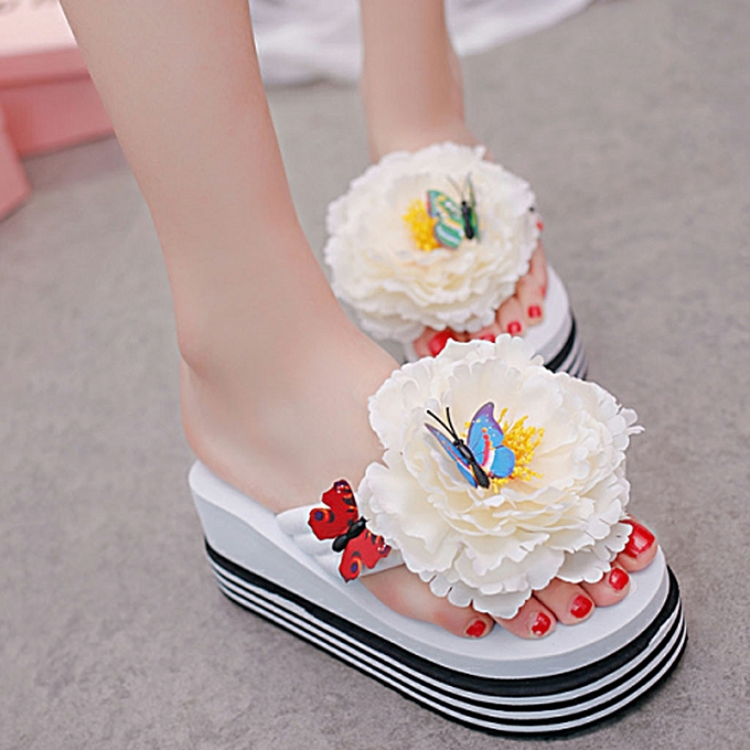 Fashion (Xiuxingzi) Wohommes Fashion Versatile Flat Sandals Beach Sandals Solid Couleur Pearl Sandals à prix pas cher