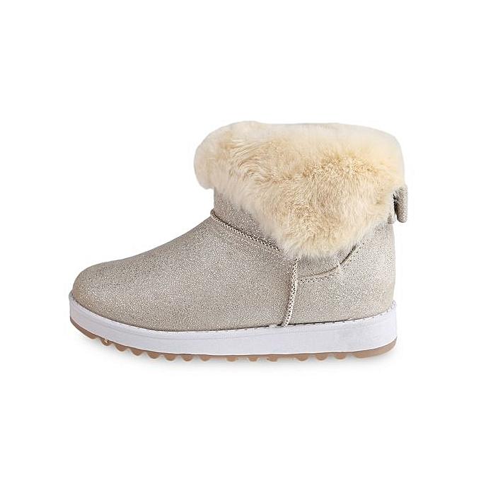 Fashion Stylish Stylish Fashion Paillette Decoration Slip On   Warm Middle Tube Boots à prix pas cher  | Jumia Maroc af6320