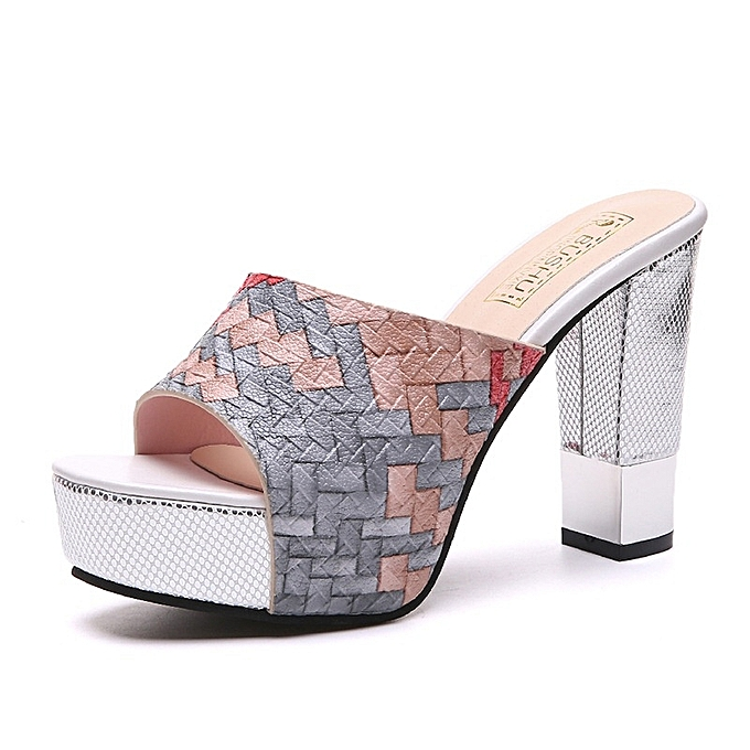 Other High Heel Open Toe Platform Sandals Slippers à prix pas cher