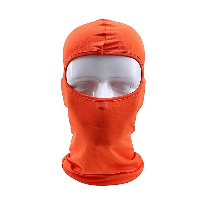 Autre POSSBAY Winter Snowboard Mask Outdoor Cycling Balaclavas Windproof Motorcycle Face Mask Hat Neck Helmet Cap Sports Breathable( Orange) à prix pas cher