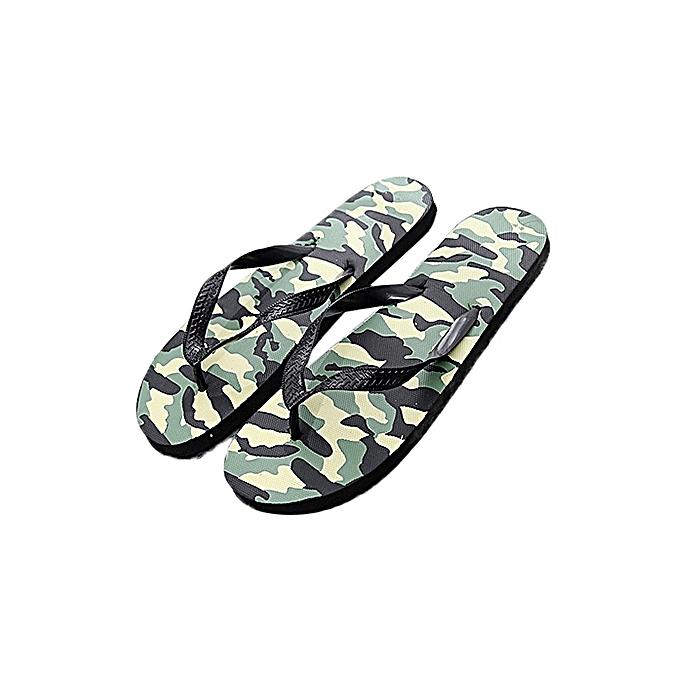 Fashion Men's Flip Flops Comfortable Casual Beach Non-slip Anti foot's Injury Camouflage Pattern Sandals à prix pas cher    Jumia Maroc