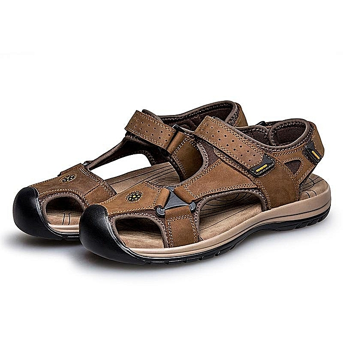 Fashion Fashion   Anti-collision Anti-collision  Toe Shock Absorption Outdoor Leather Hiking Sandals-EU à prix pas cher  | Jumia Maroc 8084c9