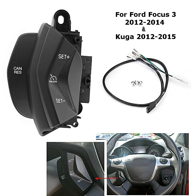 UNIVERSAL car speed control switch cruise control system kit for ford focus 3 2012-2014 kuga 2012-2015 on steering wheel à prix pas cher