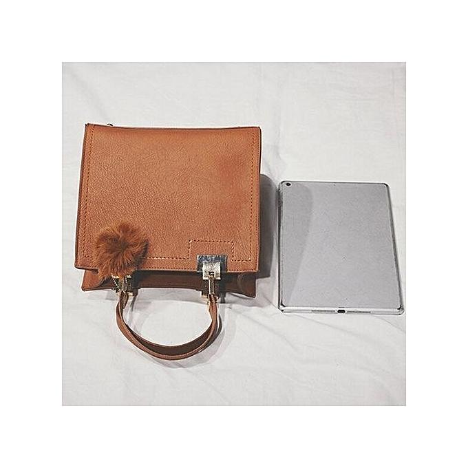 Siketu Wohommes Fashion Leather Shoulder Bags With Corssbody Bag&Handbag marron-marron à prix pas cher