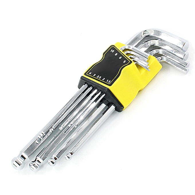 Autre Universal 9pcs Inches Hex Allen Key Set L-Shape Allen Wrench Key Hexagon For Repair Bicycle Hand Tools(A3) à prix pas cher