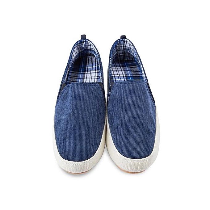 Fashion Male Casual Pure Color Color Color Slip On Canvas Shoes-BLUE à prix pas cher  | Jumia Maroc d7ee26