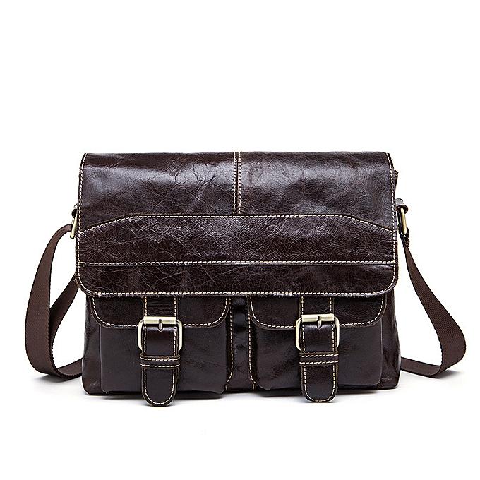 Fashion Men's Briefcase Tote men messenger bag travel laptop bag for men document business Leather briefcase male  leather à prix pas cher