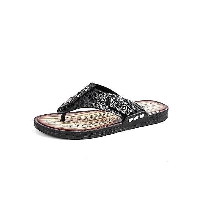 mode été Hommes Herbaguebone Sandals Slippers plage chaussures Non-slip Wear-resistant Décontracté Flip-flops à prix pas cher
