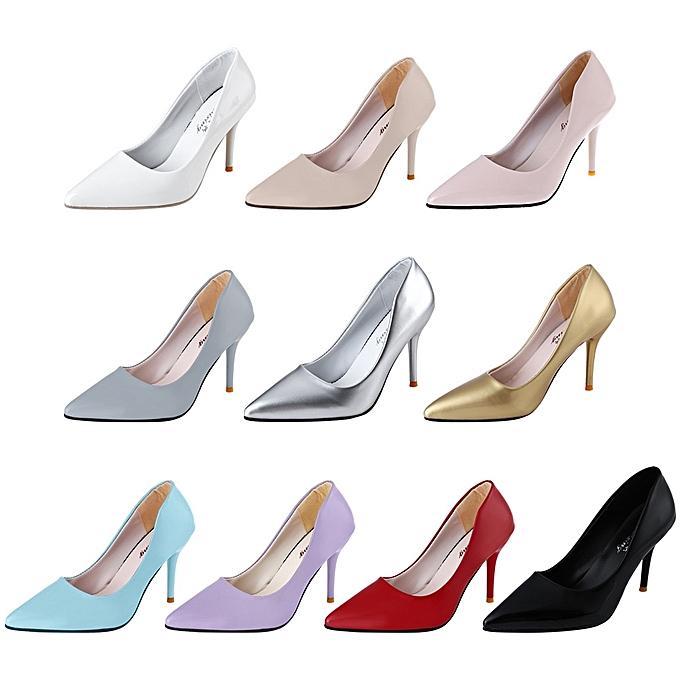 Fashion Stylish Pointed Toe   Thin High Heel Shoes-RED à à Shoes-RED prix pas cher  | Jumia Maroc 99f675