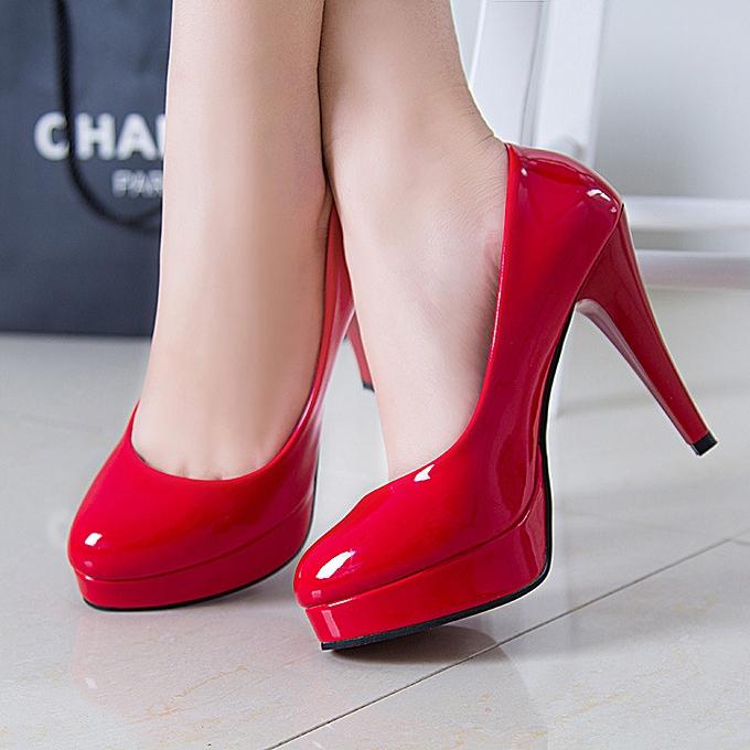 Fashion Wohommes high heel pointed stiletto waterproof platform femmes chaussures work chaussures femmes chaussures à prix pas cher    Jumia Maroc