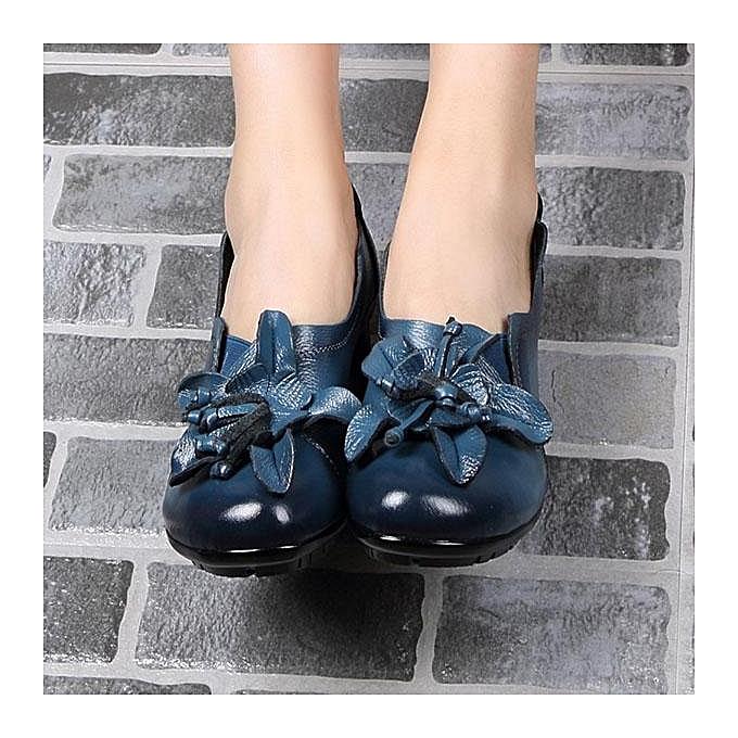 Fashion SOCOFY Fashion WoHommes WoHommes Fashion  Flower Pure Color Mid Heel Retro Soft Pumps-EU à prix pas cher  | Jumia Maroc 70c78b