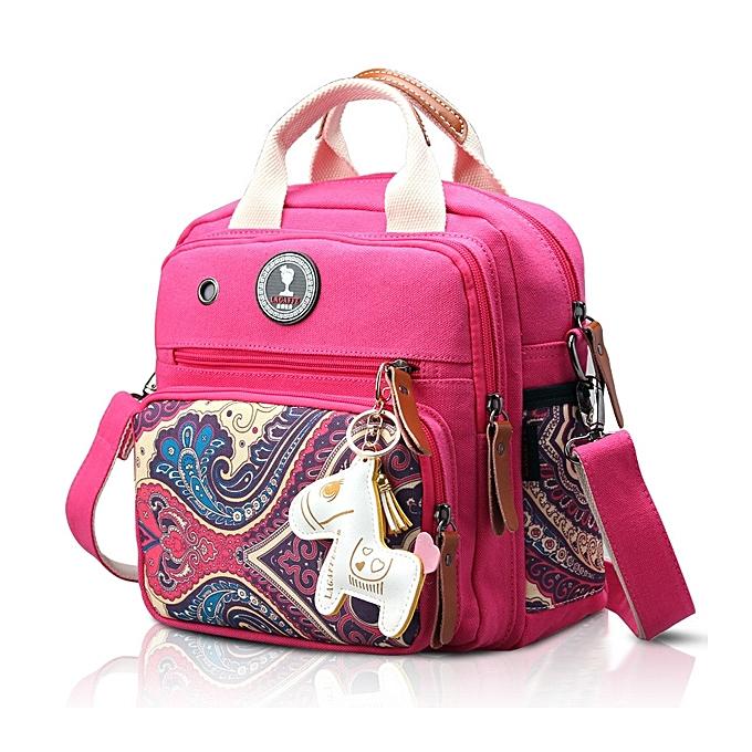 mode femmes toile Multifunctional Print Shoulder sacs sac à dos à prix pas cher
