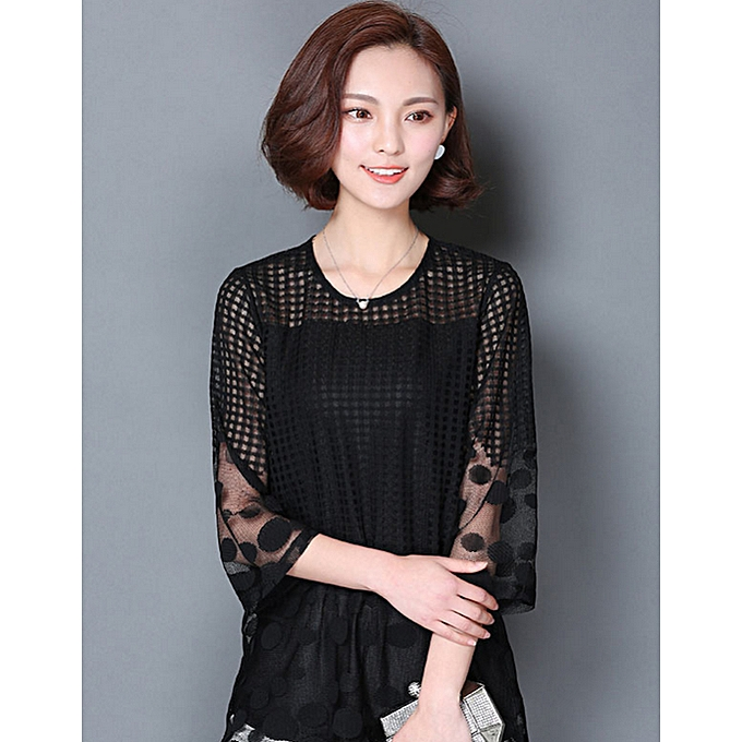 mode (Xiuxingzi)  1 PC mode And Elegant femmes Three Quarter Sleeve  Shirt  L à prix pas cher