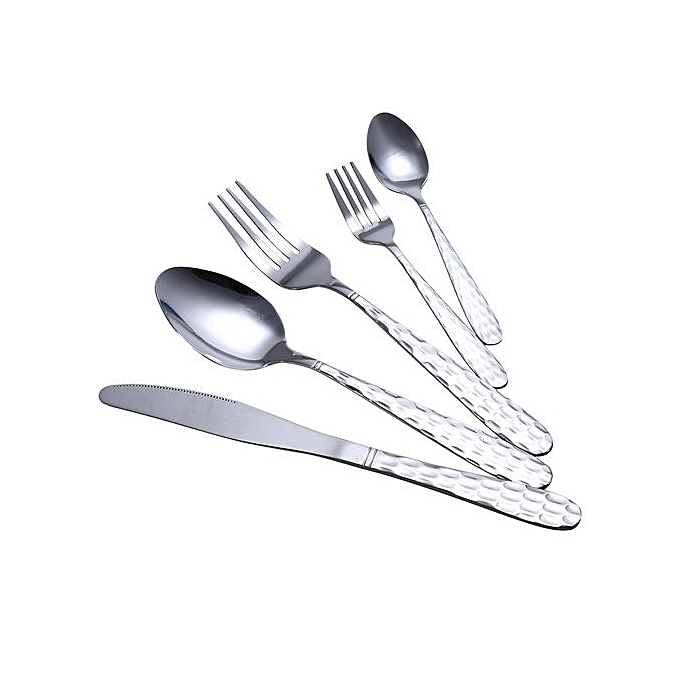 5 piece stainless steel flatware set dinner fork spoon for Interieur design hbo