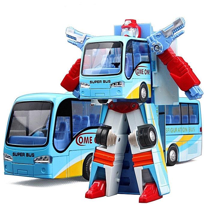 UNIVERSAL nouveau Variable Robot Bus Transform Figure Toddler Model Educational Toy Enfants Gift  bleu à prix pas cher