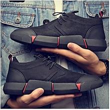 2e247d0272f Chaussures de sport en cuir noires pour hommes