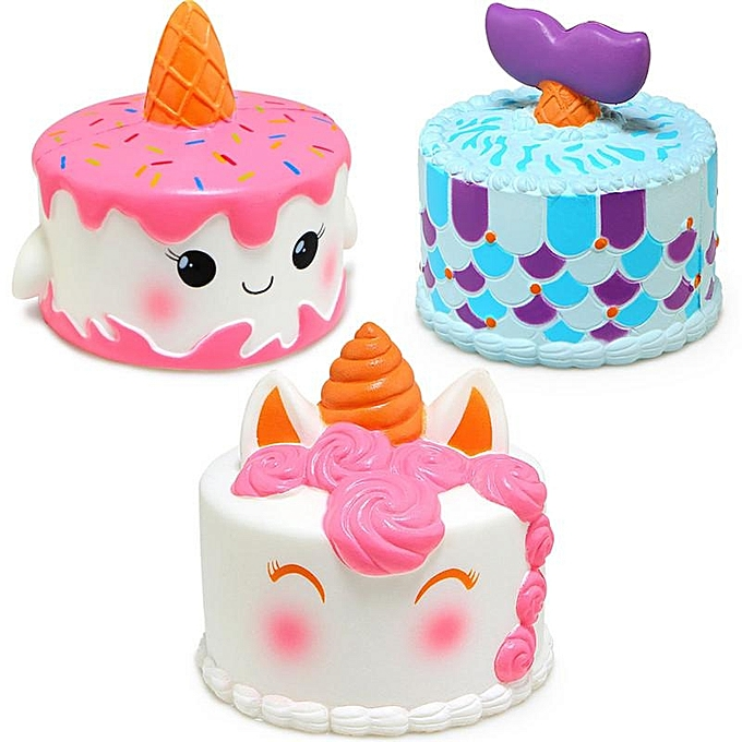 UNIVERSAL Jumbo Squishy Squeeze Unicorn Mermaid Cake SFaible Rising Cream Gift Enfants Toy(Unicorn) à prix pas cher