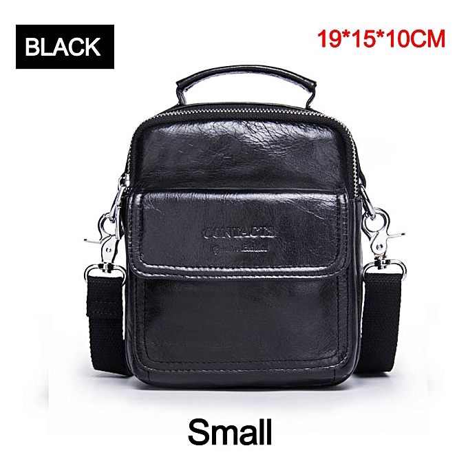 Other CONTACT'S  Cow Leather Messenger Bags Flap Casual Men Solid Handbags Famous Brand Small Male Shoulder Crossbody Bags(style3) à prix pas cher