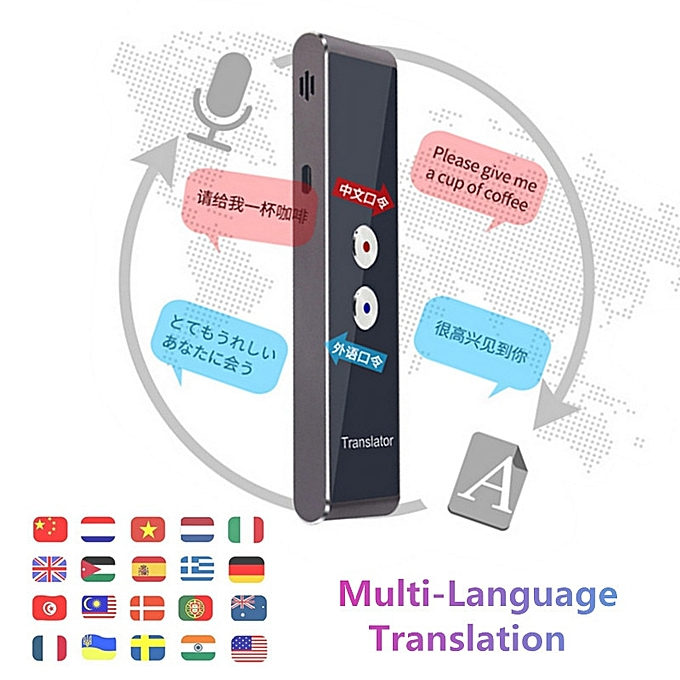 Other Portable T8 Smart Voice Speech Translator Two-Way Real Time 30 Multi-Language Translation For Learning Travelling Business Meet QLANG à prix pas cher