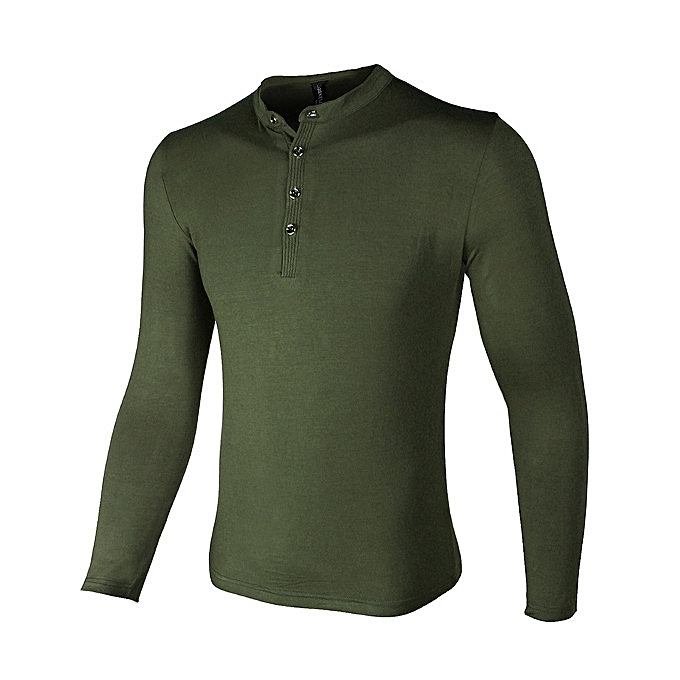 Fashion Mens Casual Outdoor Sport T-Shirts Button Collar Tide Military Style T-Shirts à prix pas cher