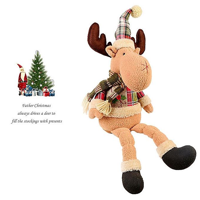 Generic Christmas Santa Claus Snowhomme Deer Stuffed Toys Plush Toy Doll Christmas gift à prix pas cher