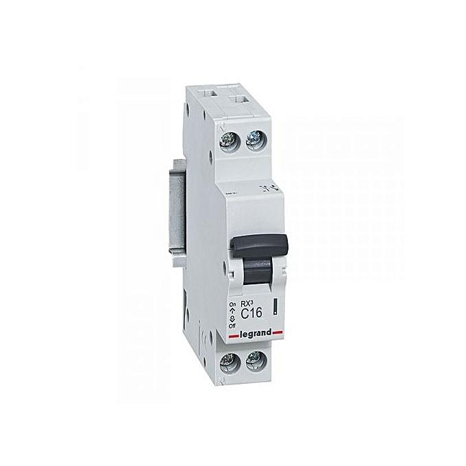 Legrand Disjoncteur 16A Phase + Neutre   Pack 10 Unités  à prix pas cher