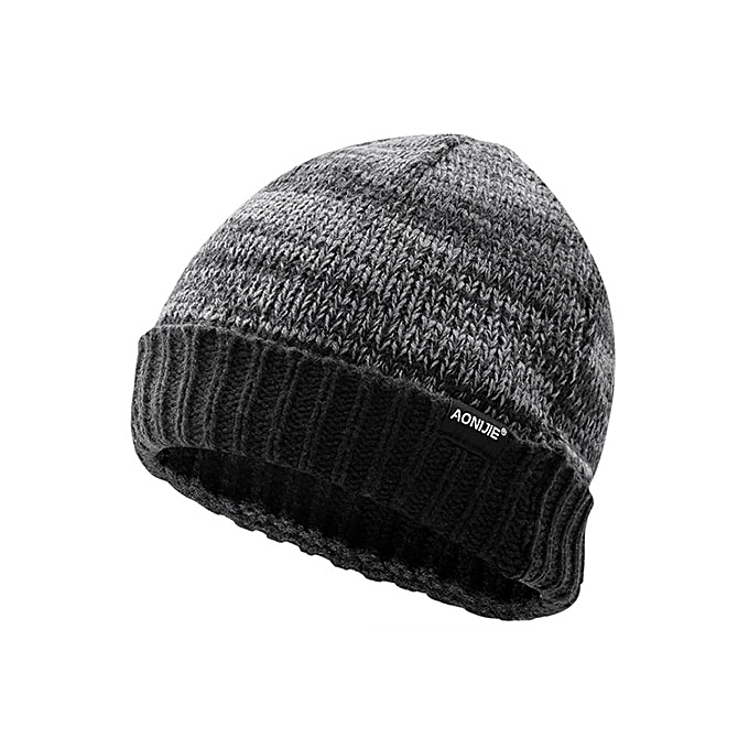 AONIJIE Winter Knitted hats Outdoor Sports Snowboarding Cap Winter Windproof Thick Warm Running Cap Ski Running Caps(M25  gris) à prix pas cher
