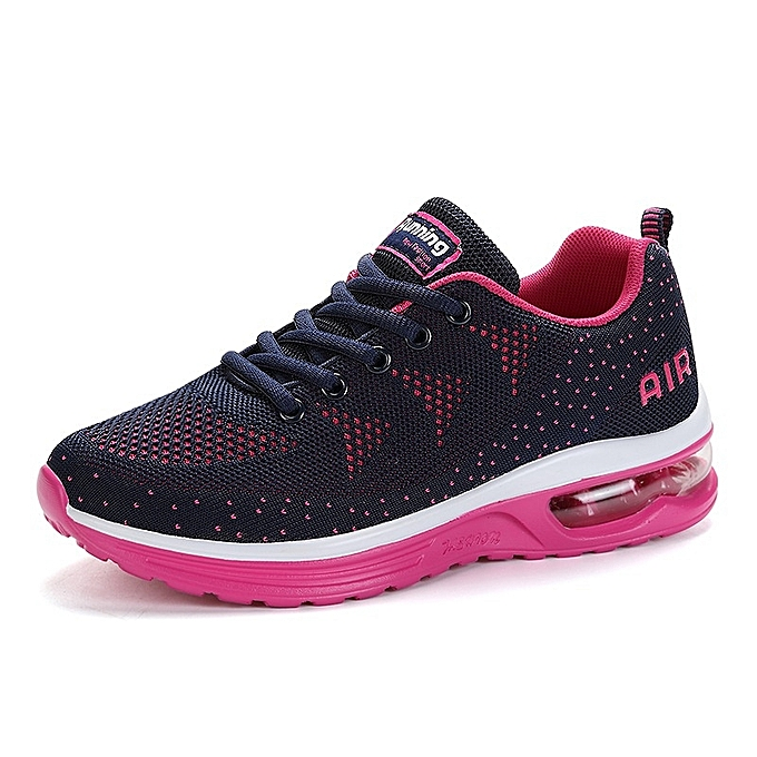 Other nouveau mode Hommes's mode en volant Weave  Jogging Lace-up engrener respirant Sports chaussures-Rose rouge à prix pas cher