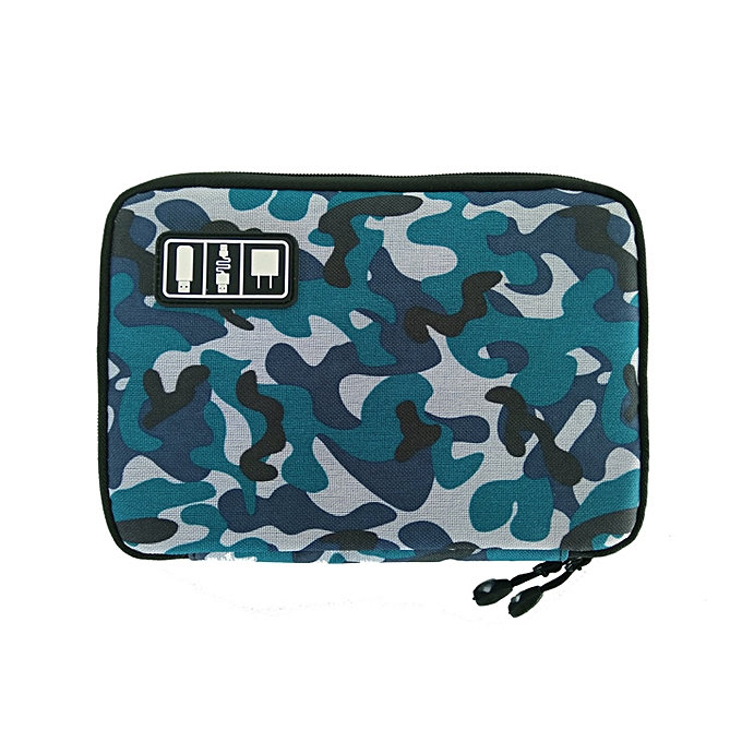 Other nouveau Electronic Accessories voyage sac Nylon Pour des hommes voyage Organizer For Date Line SD voitured USB Cable Digital Device sac(bleu camouflage) à prix pas cher