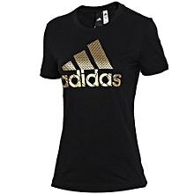 c8c3ab240 Adidas Summer Women's Black Short-sleeved T-Shirt DV3025