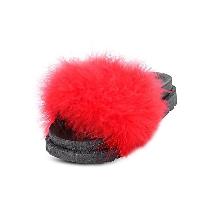 Générique WoHommes  Casual Casual Casual Flat Platform Coral Fleece Lightweight Slippers-RED à prix pas cher    Jumia Maroc a066ed