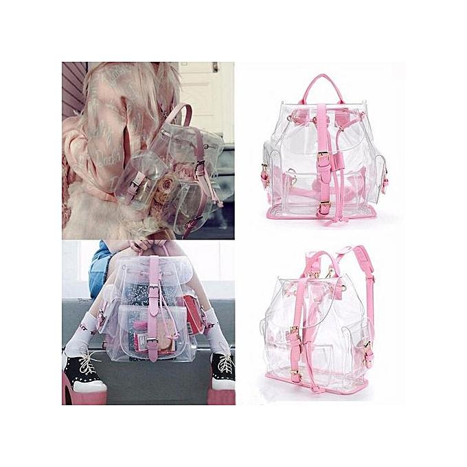 mode Xiuxingzi_ Wohommes Clear Plastic See Through Security Transparent sac à dos sac voyage sac à prix pas cher