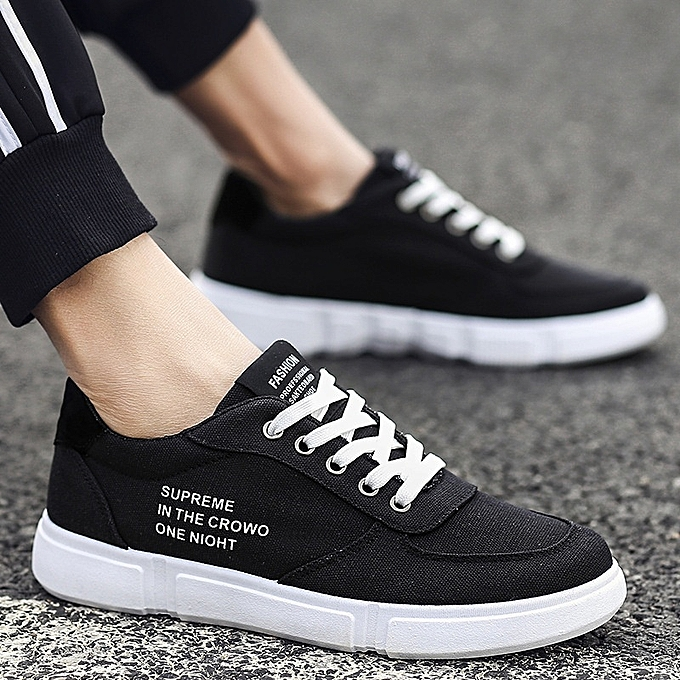 Other Stylish  Spring Men Casual Sports chaussures Low Help Cloth chaussures -noir à prix pas cher