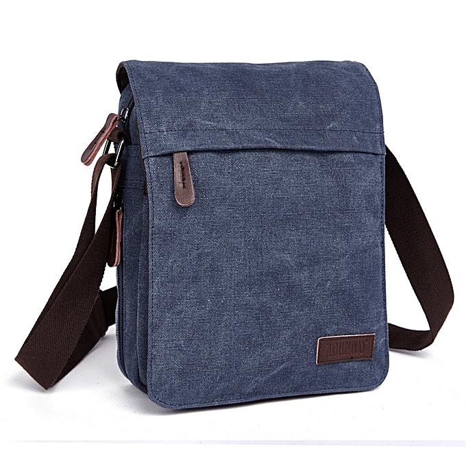 Other nouveau 2019 Design Hommes toile Messenger sac High Quality Décontracté Handsacs Satchels bandoulière Shoulder sacs  bolsa an681(bleu) à prix pas cher
