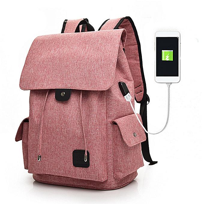 nouveauorldline USB External Charging Sports FonctionneHommest voyageing Student sac Boy Laptop sac à dos- violet à prix pas cher