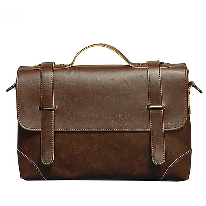 Other Designer Briefcase Hommes Vintage Affaires Handsac Hommes's Shoulder sacs Crazy horse cuir bandoulière Laptop sacs Décontracté voyage sacs( ) à prix pas cher