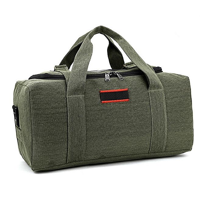 Other 2018 Canvas Travel Bag Weekend Bag Large Capacity Overnight Bag shoulder Men Waterproof messenger bags femmes Travel Tote( vert small) à prix pas cher