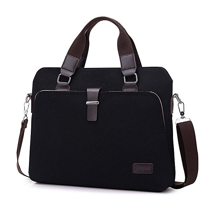 Other luxury men business handbag business computer bag laptop bag briefcase men office bags  canvas shoulder messenger bag handle(noir) à prix pas cher